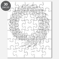 White spine, transparent bg Puzzle