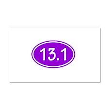 Purple 13.1 Oval Car Magnet 20 x 12