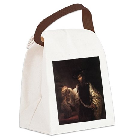 Aristotle with a Bust of Homer Canvas Lunch Bag