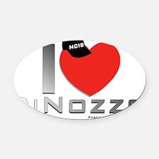 iHeartDinozzo Oval Car Magnet