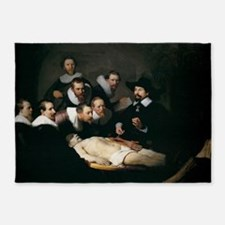Anatomy Lecture of Dr Nicolaes Tulp 5'x7'Area Rug