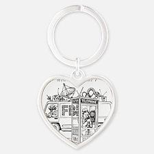Privacy Heart Keychain