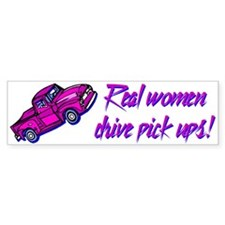 """Real Women"" Bumper Bumper Sticker"