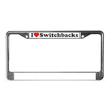 iloveSwitchbacks License Plate Frame
