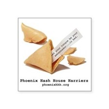 """Large fortune cookie Square Sticker 3"""" x 3"""""""