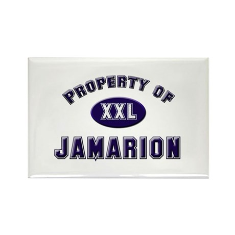 Property of jamarion Rectangle Magnet