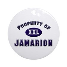 Property of jamarion Ornament (Round)