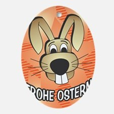 Easter Bunny - german Oval Ornament