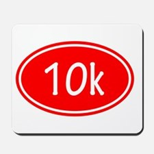 Red 10k Oval Mousepad