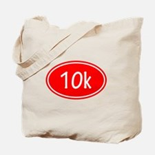Red 10k Oval Tote Bag