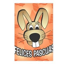 Easter Bunny - spanish Postcards (Package of 8)