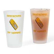 Geocaching DNF Yellow Drinking Glass