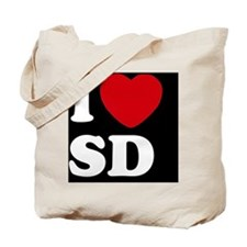 I Heart SD blackt Tote Bag