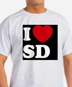 I Heart SD blackt T-Shirt