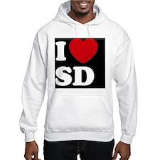 I Heart SD blackt Hoodie