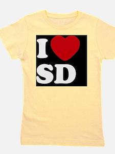 I Heart SD blackt Girl's Tee