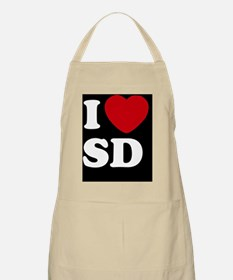 I Heart SD blackt Apron