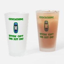 Geocaching Find Just One Green Drinking Glass