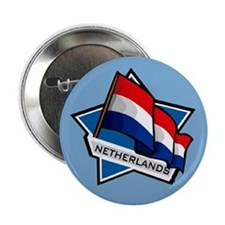 """Netherlands Star Flag"" Button"