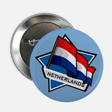 """Netherlands Star Flag"" Button"