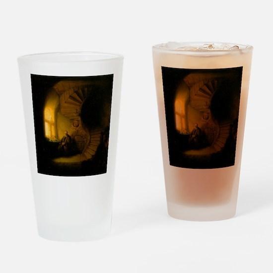 Philosopher in Meditation Drinking Glass