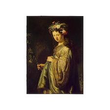 Saskia as Flora 5'x7'Area Rug