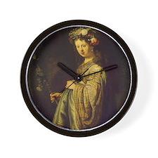 Saskia as Flora Wall Clock