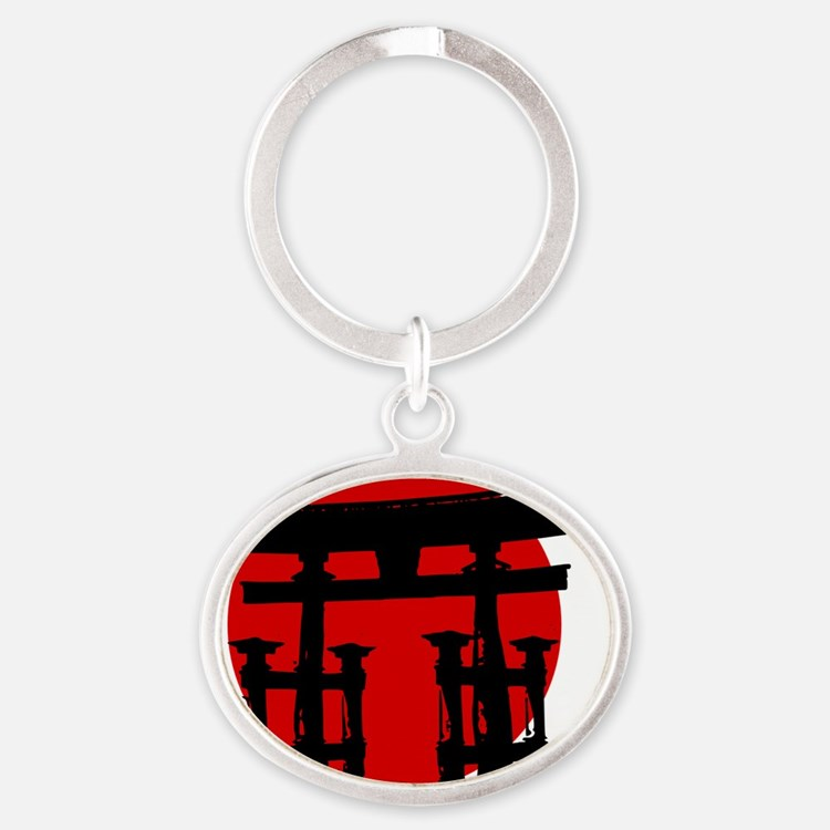 Shinto Shire Japan Oval Keychain