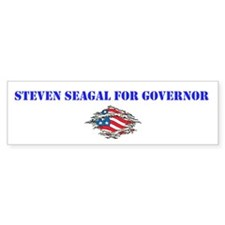 Steven Seagal For Governor Bumper Sticker