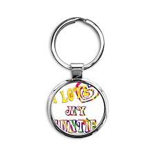auntie Round Keychain