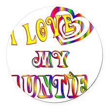 auntie Round Car Magnet