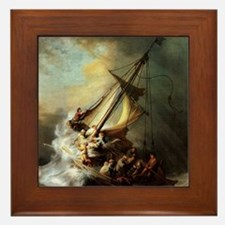 Storm on the Sea of Galilee Framed Tile