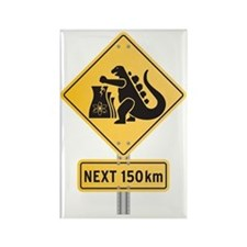godzilla-sign-2 Rectangle Magnet