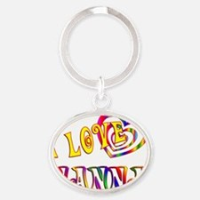 nanna Oval Keychain