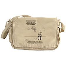 6625_basketball_cartoon Messenger Bag