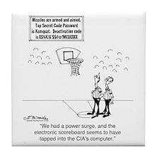 6625_basketball_cartoon Tile Coaster