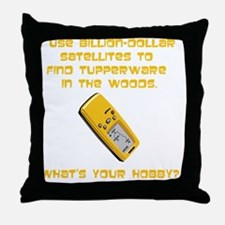 GeoCache Tupperware Yellow Throw Pillow