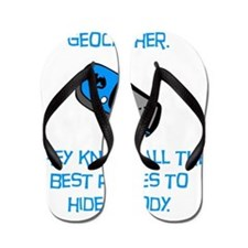 Geocacher Body Blue Flip Flops