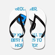Geocacher Body Blue Flip Flops