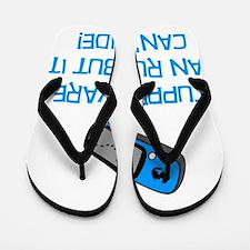 Geocacher Run Cant Hide Blue Flip Flops