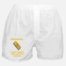 Geocaching Nerds Yellow Boxer Shorts