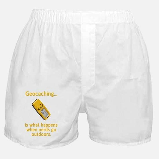 Geocaching Nerds Yellow Boxer Shorts