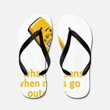 Geocaching Nerds Yellow Flip Flops