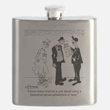 6640_baseball_cartoon Flask