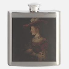 Saskia in a Pompous Dress Flask