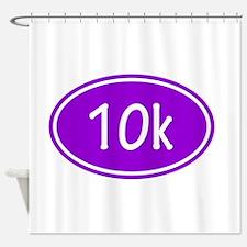 Purple 10k Oval Shower Curtain