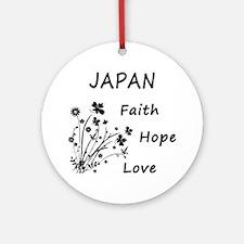japan faith hope Round Ornament