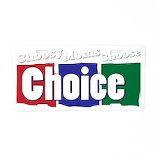choice_dark Aluminum License Plate