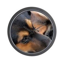 Curled Up Cattle Dog Wall Clock