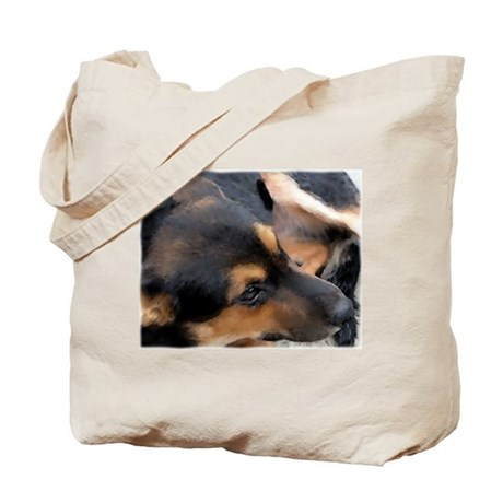 Curled Up Cattle Dog Tote Bag